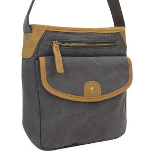 Vintage Cotton Canvas Shoulder Bag CS12GRY